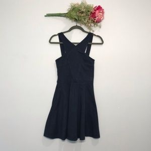 Hollister | Halter Navy Fit and Flare Dress SZ M